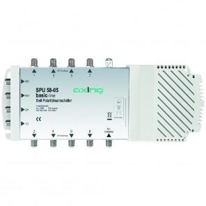 Axing SPU 58-05 basic-line Sat-Multischalter 8 Teilnehmer | 5 in 8, Stand-Alone, HDTV-, 4K-, 3D-tauglich