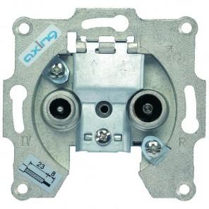 Axing BSD 4-07 BK-Durchgangssteckdose (5-862MHz, 7dB Anschlussdämpfung)