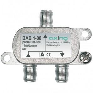 Axing BAB 1-20 BK-1-Fach Abzweiger mit 20 dB Abzweigdämpfung (5-1006 MHz)