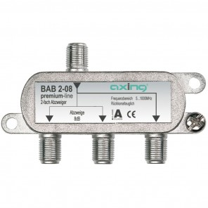 Axing BAB 2-08 Abzweiger | horizontal, 2-fach, 8dB