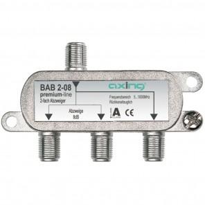 Axing BAB 2-10 BK-2-Fach Abzweiger mit 10 dB Abzweigdämpfung (5-1006 MHz)