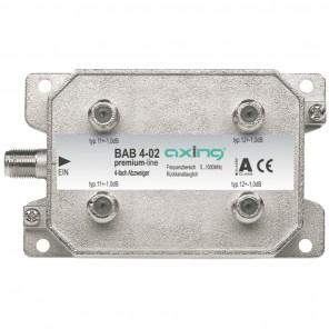 Axing BAB 4-02 4-Fach Abzweiger mit 11-12 dB Abzweigdämpfung (5-1006 MHz)