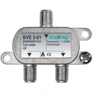Axing BVE 2-01 BK 2-fach Verteiler | 5-1000 MHz