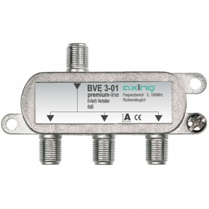 Axing BVE 3-01 BK 3-fach Verteiler | 5-1000 MHz