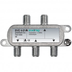 Axing BVE 4-01 BK 4-fach Verteiler   5-1000 MHz