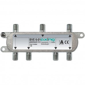 Axing BVE 6-01 BK 6-fach Verteiler   5-1000 MHz