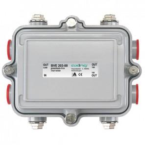 Axing BVE 203-00 3-Fach BK-Verteiler für den Außenbereich