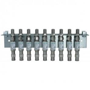 Axing QEW 9-20 Erdungsblock 9-fach | einreihig, Quickfix, Überspannungsschutz, für SPU 9xx-05 am Eingang