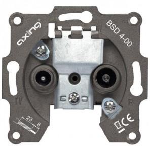 Axing BSD 4-00 BK-Einzel- und Stichleitungsdose | 5-862MHz