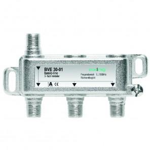 Axing BVE 30-01 3-Fach BK-Verteiler | 5-1000 MHz, für BK, DVB-T2 HD