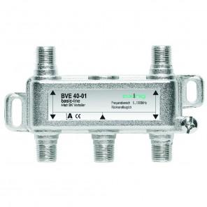 Axing BVE 40-01 4-Fach BK-Verteiler | 5-1000 MHz, für BK, DVB-T2 HD