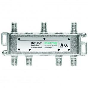 Axing BVE 60-01 6-Fach BK-Verteiler | 5-1000 MHz, für BK, DVB-T2 HD