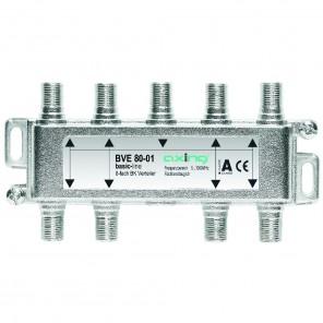 Axing BVE 80-01 8-Fach BK-Verteiler | 5-1000 MHz, für BK, DVB-T2 HD