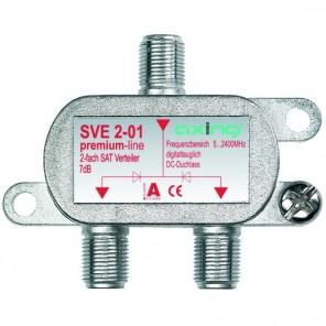 Axing SVE 20-01 2-Fach SAT-Verteiler | DC-Durchgang, für Satelliten-Anlagen