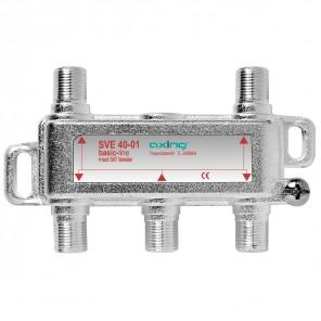 Axing SVE 40-01 4-Fach SAT-Verteiler| DC-Durchgang, für Satelliten-Anlagen