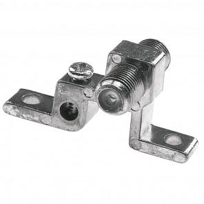 Axing CFA 7-00 F-Verbinder für Wandmontage mit Erdklemmen | F-Buchse auf F-Buchse