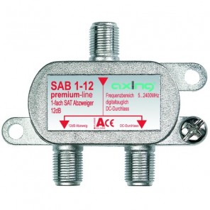 Axing SAB 1-12 1-fach SAT-Abzweiger   12dB Abzweigdämpfung