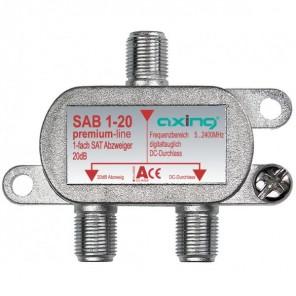 Axing SAB 1-20 1-fach SAT-Abzweiger   20dB Abzweigdämpfung