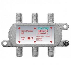 Axing SAB 4-16 4-fach SAT-Abzweiger   16 dB Abzweigdämpfung