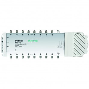Axing SPU 516-05 basic-line Sat-Multischalter 16 Teilnehmer | 5 in 16, Stand-Alone, HDTV-, 4K-, 3D-tauglich