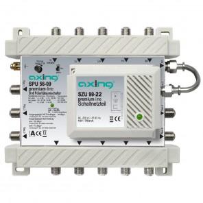 Axing SPU 56-09 premium-line Sat-Multischalter aktiv | 5 in 6, kaskadierbar, HDTV-, 4K-, 3D-tauglich