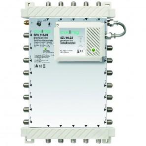 Axing SPU 516-09 premium-line Sat-Multischalter aktiv | 5 in 16, kaskadierbar, HDTV-, 4K-, 3D-tauglich
