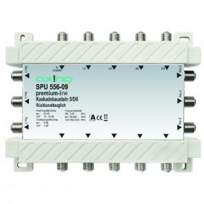 Axing SPU 556-09 premium-line Kaskadenbaustein 6 Teilnehmer passiv | 5 in 6, kaskadierbar, HDTV-, 4K-, 3D-tauglich