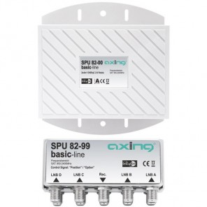 Axing SPU 82-00 Sat Umschalter | 2 x 4 in 1 DiSEqC-Umschalter mit Wetterschutz