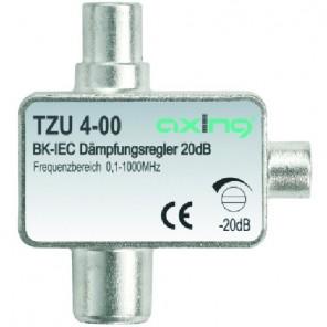 Axing TZU 4-00 BK-Dämpfungsregler mit IEC-Anschluss (0,5-20 dB)
