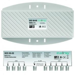 Axing SES 86-00 Einkabel-Multischalter für max. 6 Receiver | für 2 Satelliten