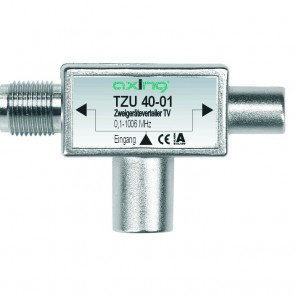 Axing TZU 40-01 2-Fach Verteiler zum Aufstecken auf Multimedia-Anschluss