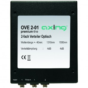 Axing OVE 2-01 optischer Verteiler (2-fach) mit FC/PC-Buchse für LWL Glasfaser