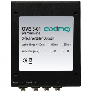 Axing OVE 3-01 optischer Verteiler (3-fach) mit FC/PC-Buchse für LWL Glasfaser