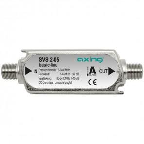 Axing SVS 2-05 Inline-Verstärker Sat/Terrestrik | 8-15 dB, 85-2400 MHz, rückkanaltauglich