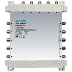 Axing SVE 5502-09 2-fach SAT-Verteiler | 4x Sat/1xterr.