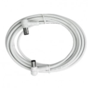 Axing BAK 153-00 Anschlusskabel IEC, Koax-Winkelst. mit Koax-Kup., 1,50m, weiß