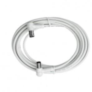 Axing BAK 253-00 Anschlusskabel IEC, Koax-Winkelst. mit Koax-Kup., 2,50m, weiß