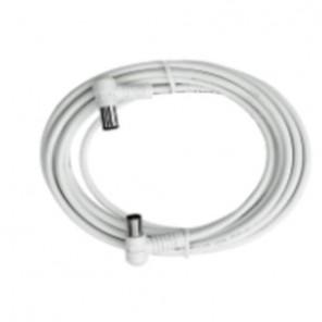 Axing BAK 373-00 Anschlusskabel IEC, Koax-Winkelst. mit Koax-Kup., 3,75m, weiß