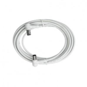 Axing BAK 993-00 Anschlusskabel IEC, Koax-Winkelst. mit Koax-Kup., 10m, weiß