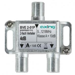 Axing  BVE 2-01P BK-2fach Verteiler,5-1218 MHz