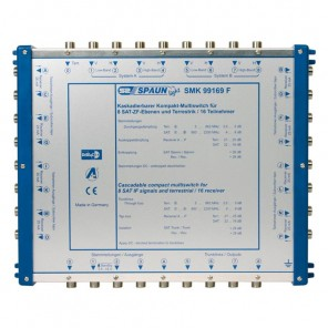 SPAUN SMK 99169 F Multischalter kaskadierbar 2 Satelliten 16 Teilnehmer