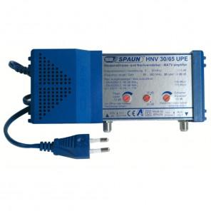 Spaun HNV 30/65 UPE Hausanschluss- und Nachverstärker mit passivem Rückweg und 20 bis 30 dB Verstärkung