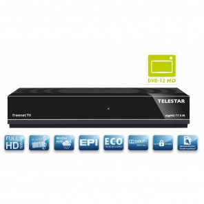 Telestar DigiHD TT5 IR DVB-T2 HD Receiver Irdeto Entschlüsselungssystem integriert