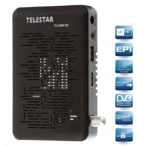 Telestar Telemini HD+ 5310469 | mobiler HDTV Sat-Receiver, inkl. HD+ Karte, externes Display, IR-Empfänger, schwarz