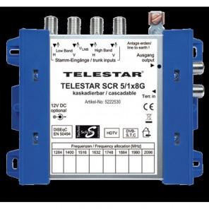 Telestar SCR 5/1x8 G Einkabel-Multischalter für 8 Teilnehmer