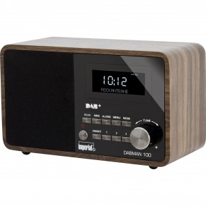 Imperial DABMAN 100 DAB+ und UKW-Radio im Holzdesign 22-220-00 mit LCD-Display