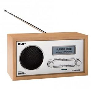 Imperial Dabman 30 DAB+-/UKW-Empfänger im Retrodesign mit automatischer Sendersuche und intergrierter Weckfunktion