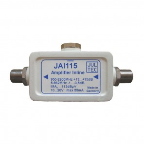 Jultec  JAI 0115 SAT Inline-Verstärker | 15dB, ferngespeist