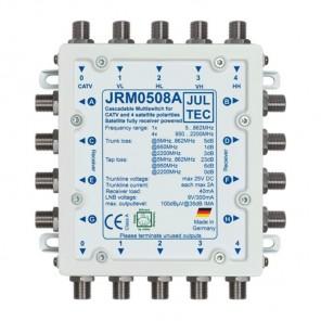 Jultec JRM 0508A Sat-Multischalter 8 Teilnehmer | 1 Satellit, kaskadierbar, DVB-T/T2- und DVB-C/Docsis-Verteilung, stromsparend