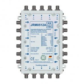 Jultec JRM 0512A Sat-Multischalter 12 Teilnehmer | 1 Satellit, kaskadierbar, DVB-T/T2- und DVB-C/Docsis-Verteilung, stromsparend